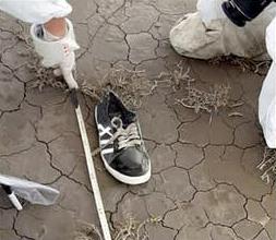 La zapatilla encontrada cerca de los restos de Facundo Astudillo Castro estaba limpia y sin restos de sal.