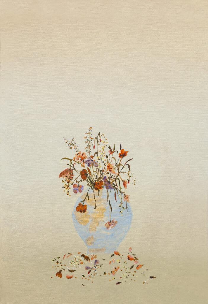 El orden implicado I. Óleo sobre tela. Muestra en Galería Nora Fisch.