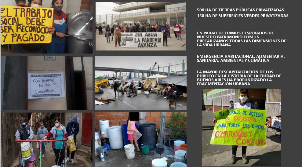 """La Coordinadora  """"La Ciudad somos quienes la habitamos"""" ."""
