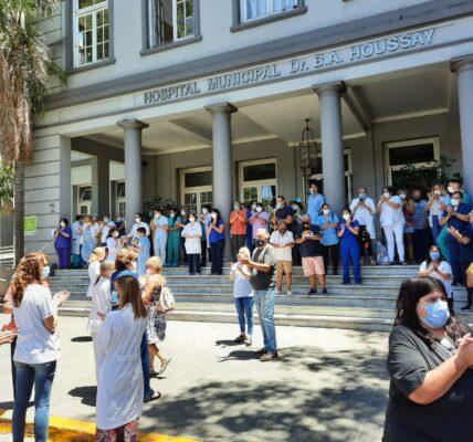 Movilización del Sindicato de Trabajadores Municipales de Vicente López