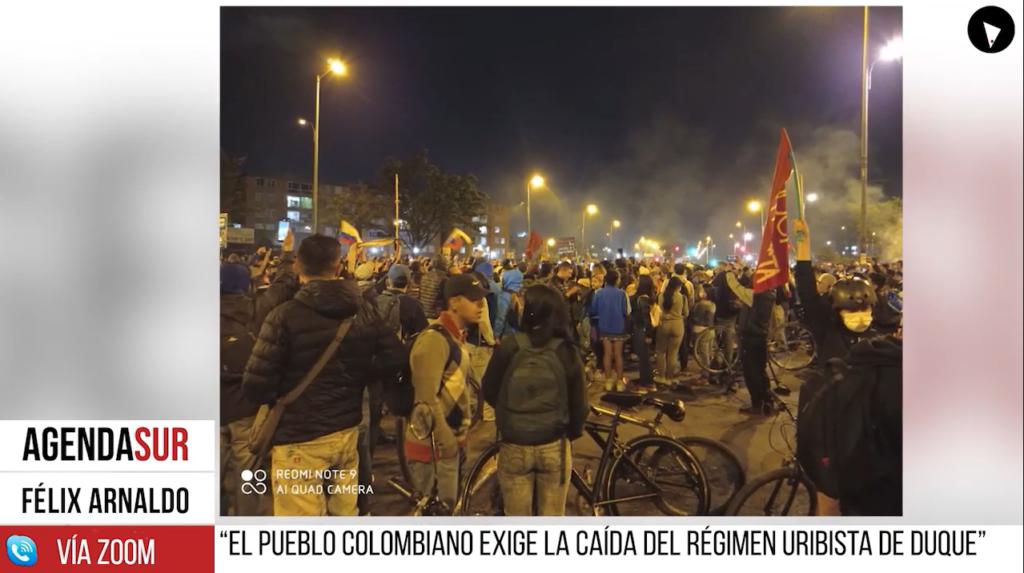 El pueblo colombiano exige la caída del régimen uribista de Duque